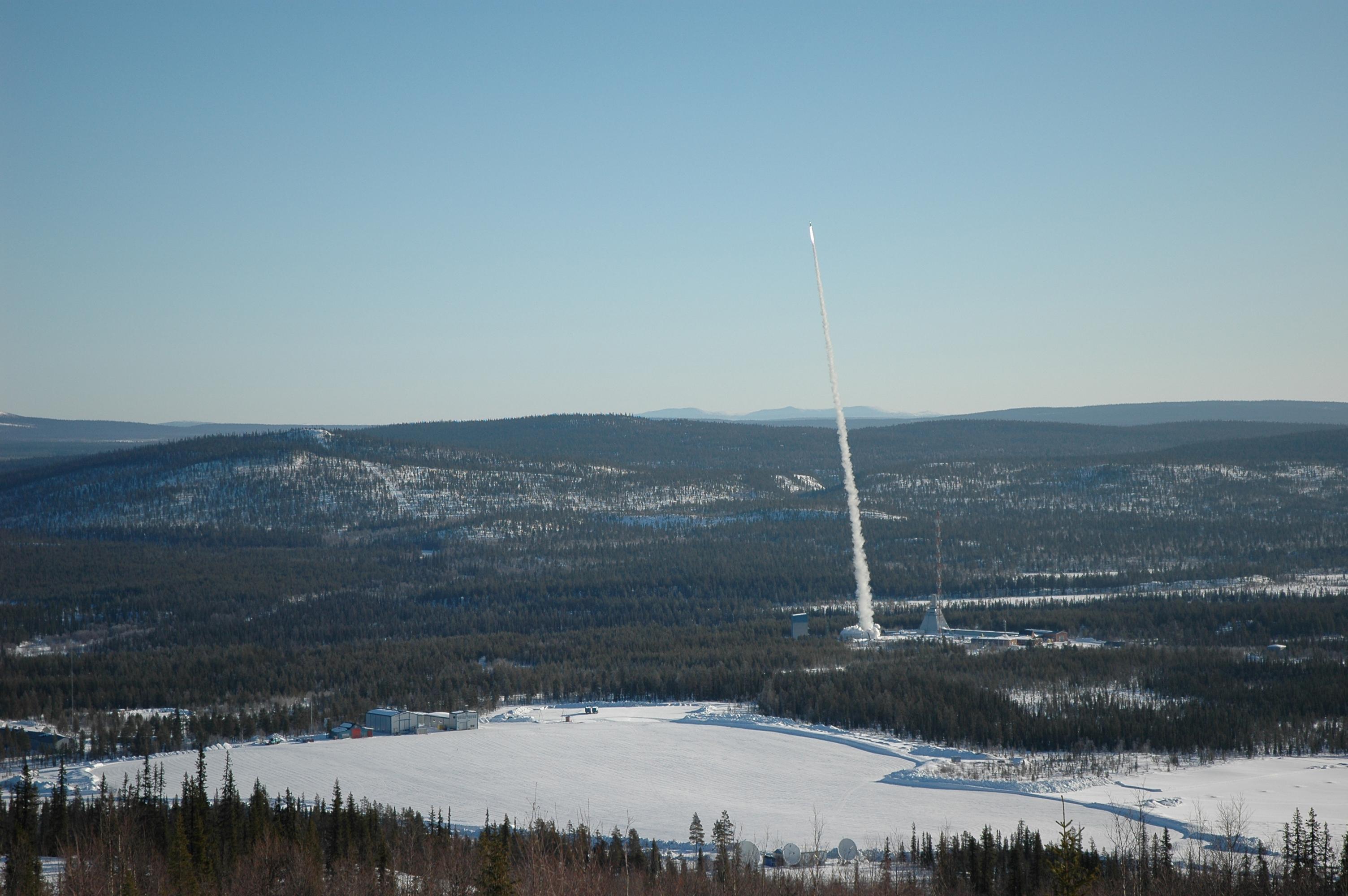 A_REXUS_rocket_is_launched_from_Esrange_in_Kiruna_Sweden