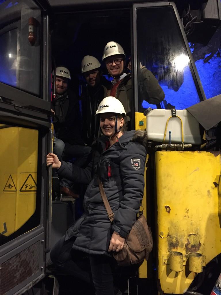 Vi skulle aldrig få för oss att missa chansen att provsitta en gammal gruvmaskin!