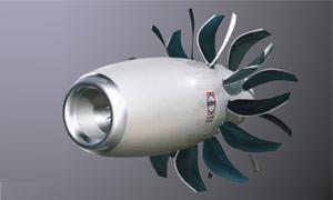 Open rotor konceptskiss © Safran