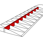 The wing spar is important and long and red in this image