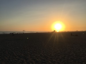 Sunset in Huntington Beach.